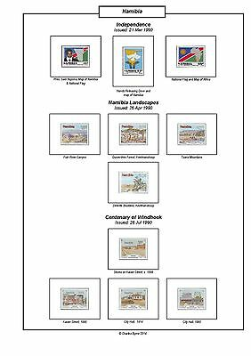 Print a Namibia Album  Completely Colour Illustrated and Annotated