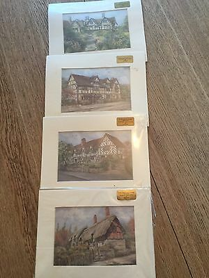 Prints; Set Of William Shakespeare's Houses