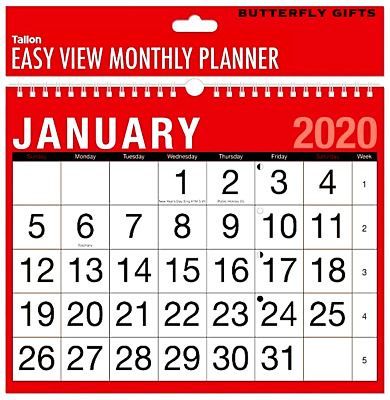 2019 Wall Calendar Large Month to View Planner,Easy View Slim Calendar Office