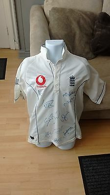 Signed England Cricket Shirt by Ten - Anderson