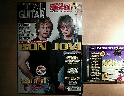 Total guitar magazine and CD 73 Bon Jovi