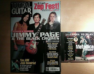 Total guitar magazine and CD 74 Jimmy Page and the Black Crowes