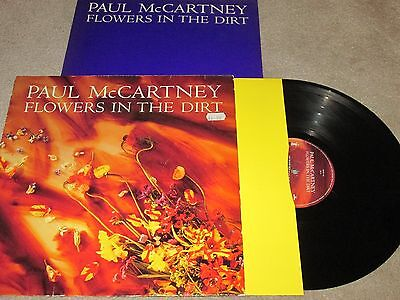 PAUL McCARTNEY - FLOWERS IN THE DIRT - WITH INSERT - VINYL LP RECORD