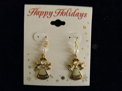 Christmas Angels, Set of Earrings and Hand Crafted Pin
