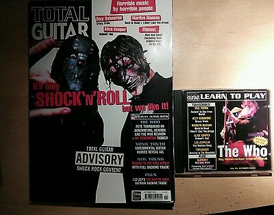 Total guitar magazine and CD 75 The Who