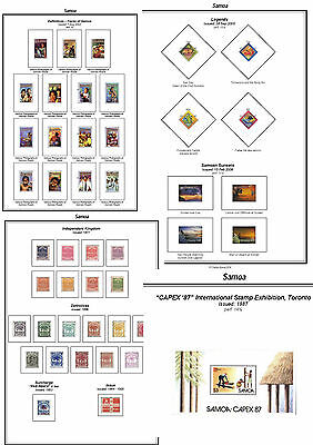 Print a Samoa Stamp Album Fully Annotated & Completely Colour Illustrated
