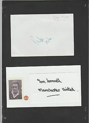 Signed card by RALPH MILNE the MANCHESTER UNITED Footballer.