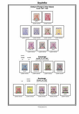 Print a Seychelles Stamp Album Fully Annotated & Completely Colour Illustrated