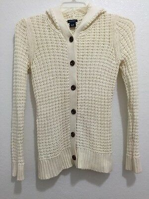 GAP Maternity Button Front Hoodie Sweater Women's Size Small
