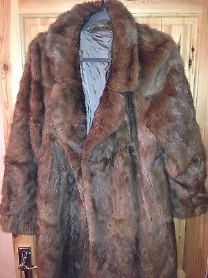 vintage real fur coat approx size 14 16
