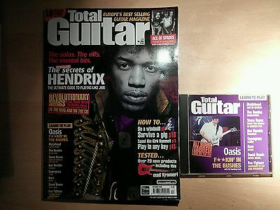 Total guitar magazine and CD 77 Hendrix