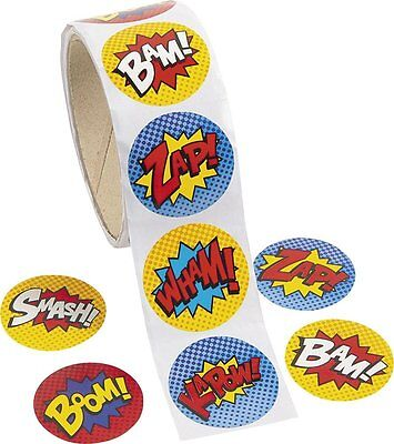 Pack of 100 - Superhero Theme Stickers
