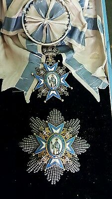 Serbia Sv Sava Order 1St Class Breast Star And Neck Order With Case Yugoslavia