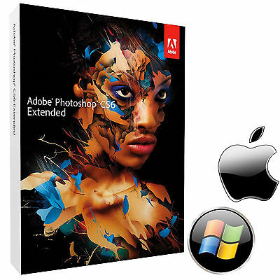 Adobe Photoshop Extended CS6 Full Version Mac/Windows Genuine with product key