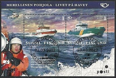 Finland 2012 - VF Selfadhesive Sheet - Life On Sea - Lux Cancels