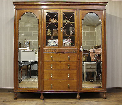 Substantial Waring & Gillow Compactum Wardrobe, Five Parts, retailed by Harrods