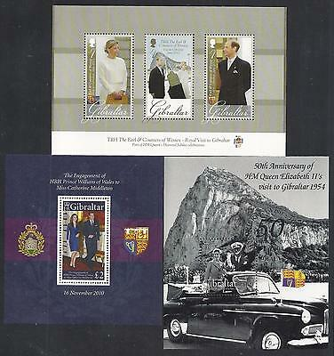 Gibraltar - 3 Very Fine Sheets - 2 Mint Never Hinged - 1 Lux Cancelled