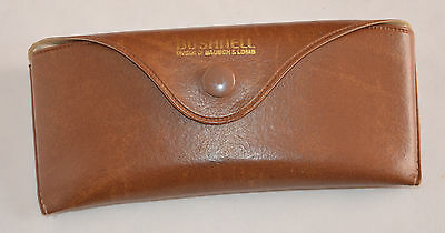 Vintage Bushnell Bausch & Lomb Brown Leather Sunglasses Eyeglasses Case Only