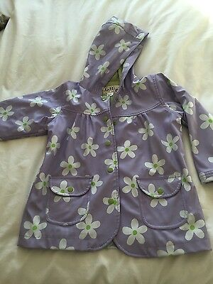 Hatley girls raincoat lilac and daisies Age 4