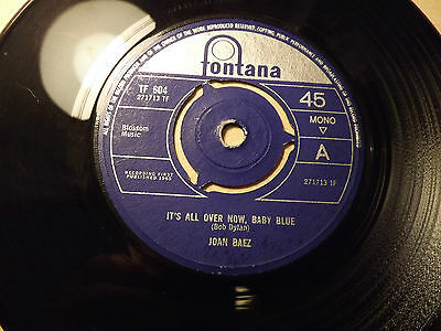 Joan Baez........It's All Over Now Baby Blue........45rpm