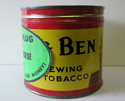 Vintage 37 CENT BIG BEN TOBACCO TIN Can IMPERIAL TOBACCO LTD MONTREAL CANADA