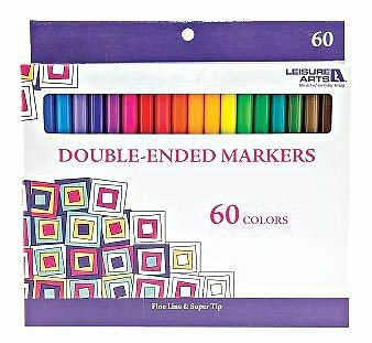 Leisure Arts 60 Piece Double-Ended Marker Set
