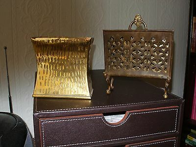 In Excellent Condition Brass Letter Rack And Brass Pen Holder