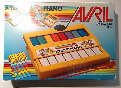 Vintage Avril Xylo Piano - Childrens Toy Glockenspiel / Xylophone / Keyboard