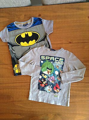 boys next angry bird long sleeve and bat man t,shirt age 4-5 years