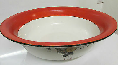 Large Art Deco style Burleigh ware wash bowl 40.5 cm diameter 13 cm tall
