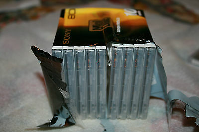 Sony Prism Gold Series MiniDisc 80 Min 10 piece New Recordable MD Japan
