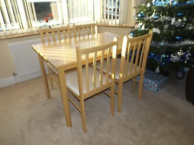 Littlewoods Beech & Cream Dining Table and 4 Chairs
