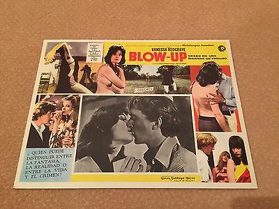 "BLOW UP 12.5x16.5"" Mexican lobby Card original - Unused Poster David Hemmings"
