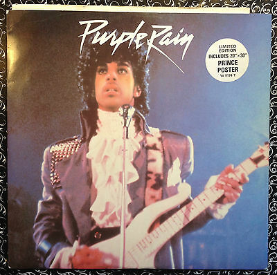 """Prince • Purple Rain 12"""" Vinyl single 1984 - With Limited Edition Poster"""