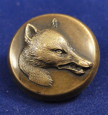Vintage Sporting Brass Fox Hunting Button