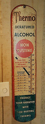 "Rare 30's Thermo Denatured Alcohol ""Anti-Freeze"" Thermometer"