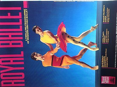 ROYAL BALLET POSTER,  Darcey Bussell, PURSUIT, GLORIA, GALANTERIES