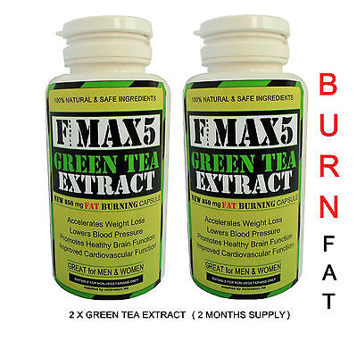 Green Tea Fat Burners Detox Colon Cleanse Slimming Diet Weight Loss Pills Bid.91