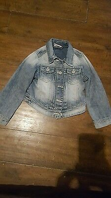 girls next blue denim coat age 5 years