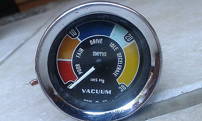 Genuine Bmc Speedwell Smiths Mk1 Mini Cooper S Vacuum Gauge Dial Rare Mpi Gt Mga