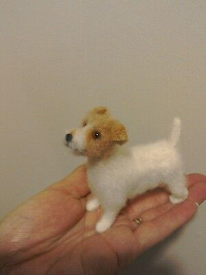 Hand needle felted Jack Russell terrier dog