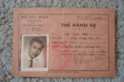 Vietnam War ID Card Saigon 1963 Dated With Photo Rare & Collectable
