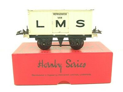 "Hornby O Gauge LMS No1 ""Refrigerator Van"" Vintage Tinplate Early Edition *TSM*"