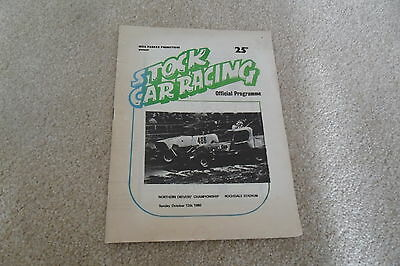 Brisca Stock Car  Programme At Rochdale Stadium 12/10/1980 Northern Drivers Cmp