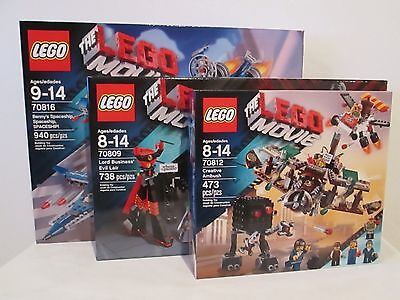 The Lego Movie three set lot 70816, 70809, & 70812 * BRAND NEW!! * benny's lair