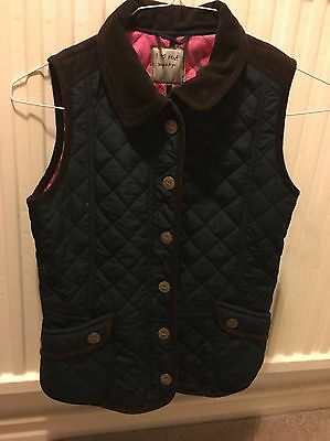 Girls Navy Gilet Age 11-12 Years