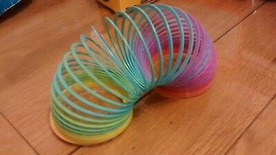 Chad Valley Magic Spring Rainbow Slinky Plastic - Vintage Classic Toy