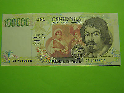 Italy 1994 100000 Lira Counterfeit Note (Falso) Caravaggio - Not Legal Tender