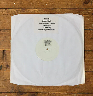 "Beat 001 Unknown Plastic Groove Chronicles Vs Beatnuts Music 12"" White label UK"