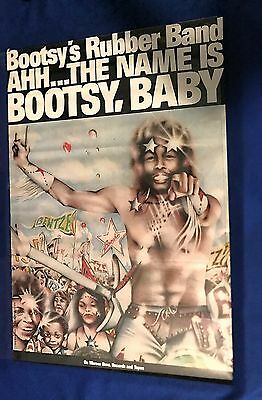 vintage 1976 Bootsy Collins Ah the Name Is LP PROMO POSTER Parliament Funkadelic